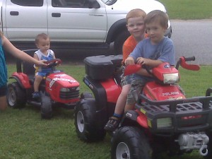 ethan and hunter 4 wheeler 2009