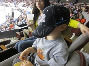 hunter at norfolk admirals game